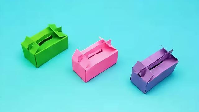 迷你蛋糕盒手工自制,小巧漂亮,折纸步骤也简单