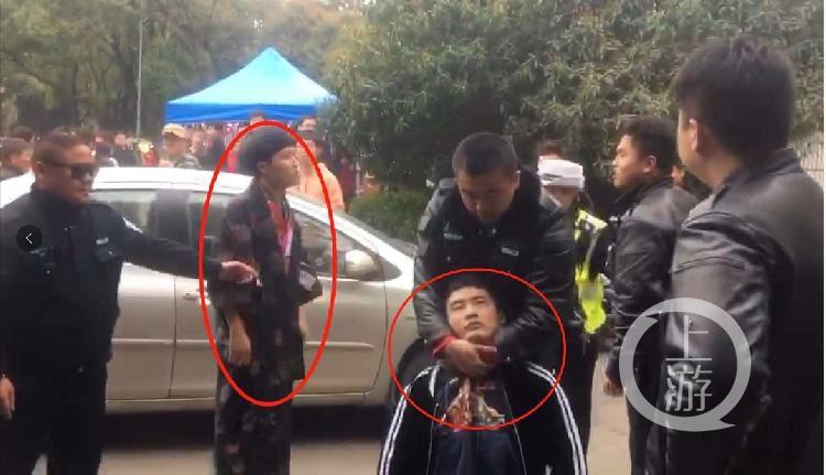 """男子被指穿""""和服""""进武大赏樱花和保安发生肢体冲突"""