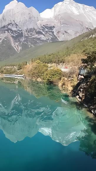 丽江玉龙雪山蓝月谷风景,音乐短片,轻音乐,乐动城市