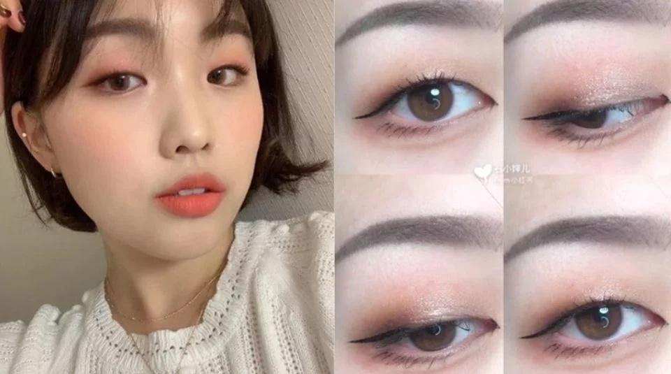 单眼皮下垂眼怎么化妆图片