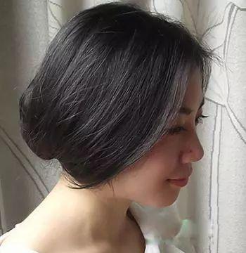 第二款 无刘海直发内扣梨花头发型 打理一款发型最简单的方法就是