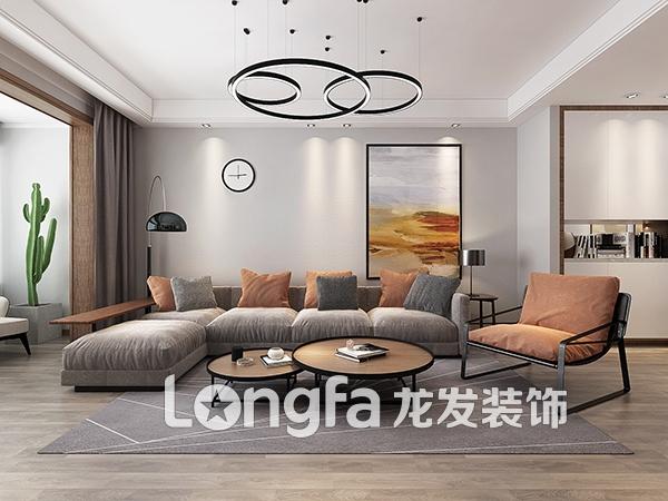 龙景逸墅131平米现代极简风格装修效果图