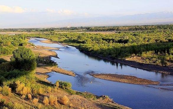 出家十几步,有一条弯弯的小河,河那边田野的尽头便是乡下的人家.