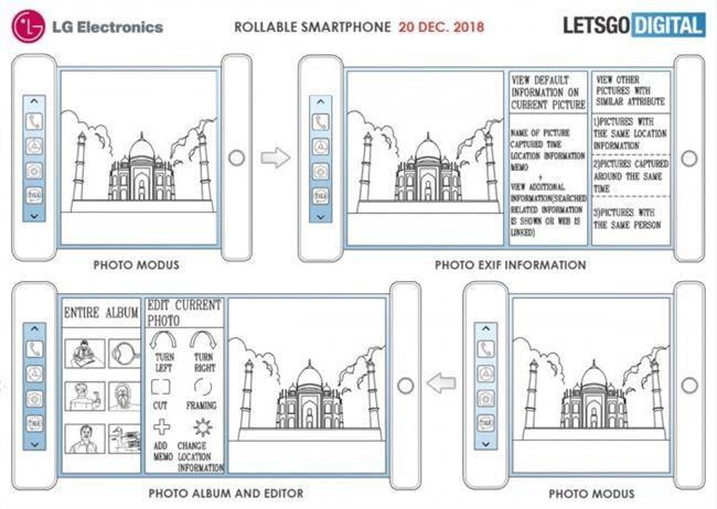CES 2019即将开幕 LG卷轴式智能手机新专利曝光