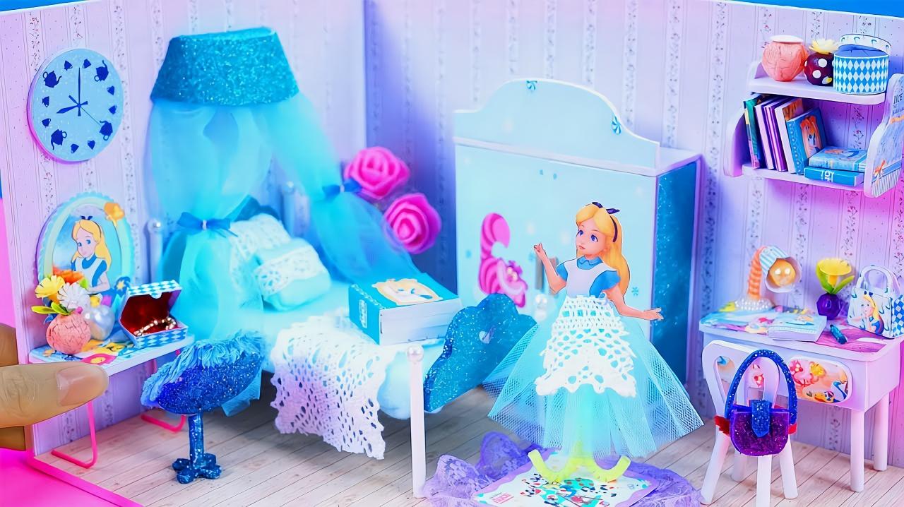 教你手工制作迷你娃娃屋,物件齊全做法簡單,手工diy視頻教程