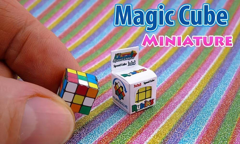 diy,手工制作一个迷你的玩具魔方,实在太可爱了!