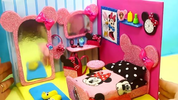 创意手工制作,diy迷你米奇主题卧室,太可爱了