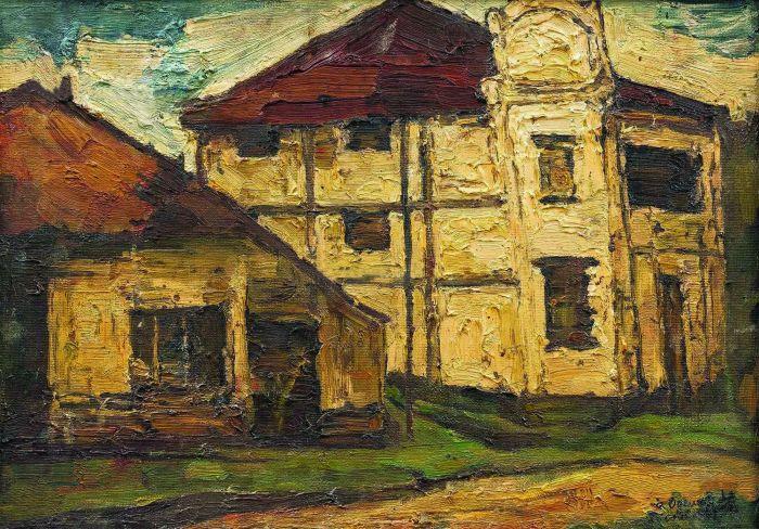 吴冠中各时期油画作品市场价值