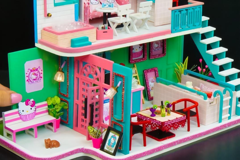 给凯蒂猫做超豪华迷你别墅,非常漂亮女生都喜欢,创意手工diy