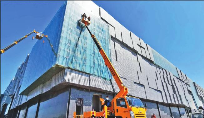 本报记者刘艳摄 2017年洞头区建设项目