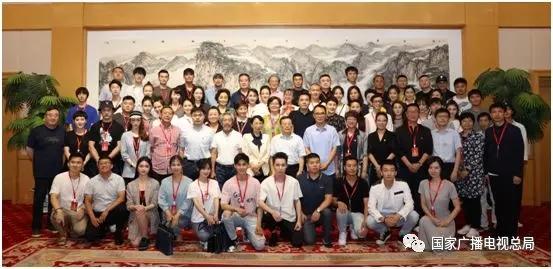 中国广播电视联合会党委委员林永健带领演员宣