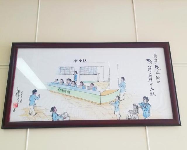"""七旬尿毒症老人手绘""""肾病科十二钗"""",送给病房的十二名护士"""