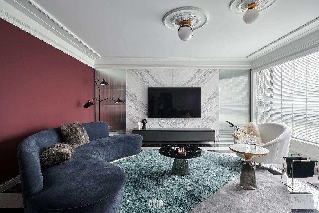 复古互补色现代美式住宅 - 辰佑设计