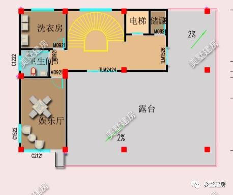 三层平面设计图:农村的房子卧室要多些这是自然,所以三楼四间卧室,还