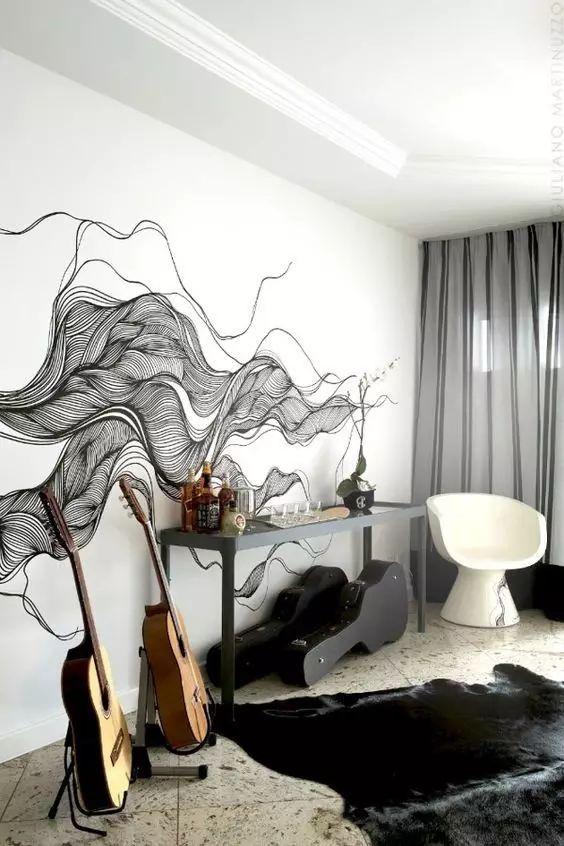 简单风景墙绘素材室内