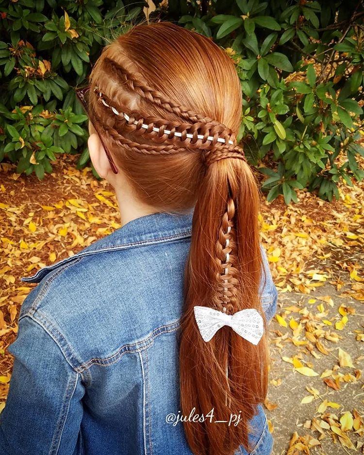 儿童编发发型简单最美,喜欢编发来收图