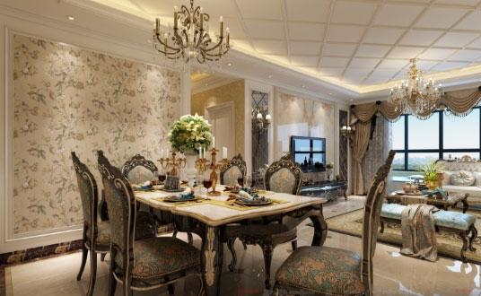 158㎡欧式风格三房装修雍容华贵,都说喜欢客厅飘窗