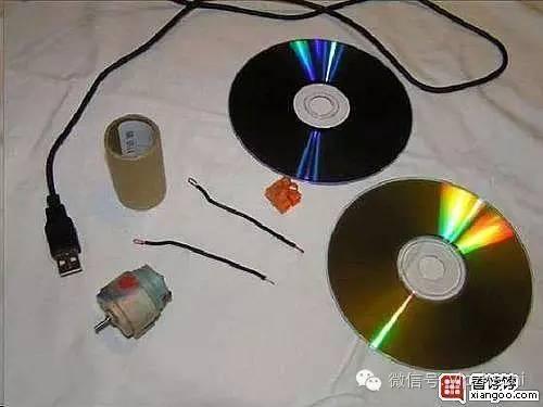 废旧光盘手工制作usb小风扇,很实用的!