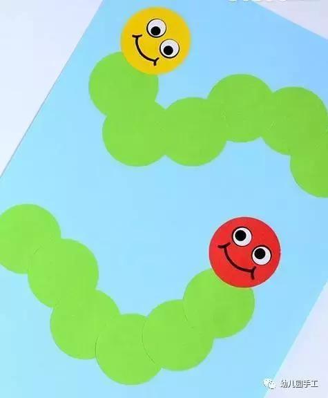 小小传承人:幼儿园环创简单易学的立体毛毛虫,小孩看到超喜欢