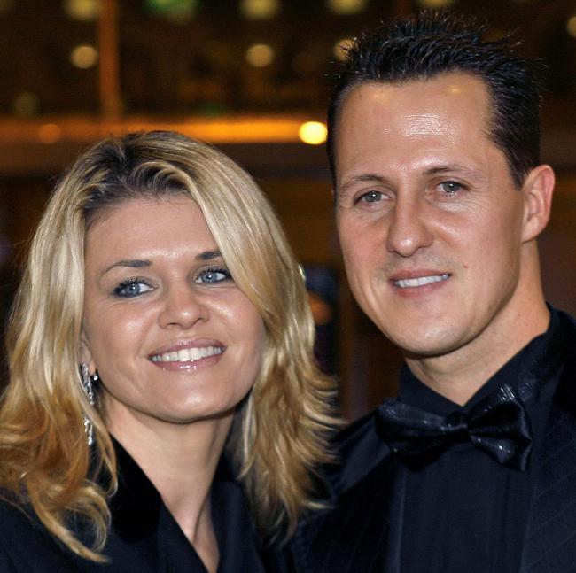 舒马赫与妻子科琳娜(资料图)