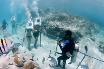 """日本设计出全球最独特的泳池!旱鸭子也能在""""水下""""自由玩耍"""
