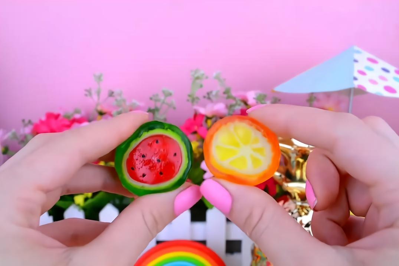 袖珍世界diy:微型水晶水果圖片