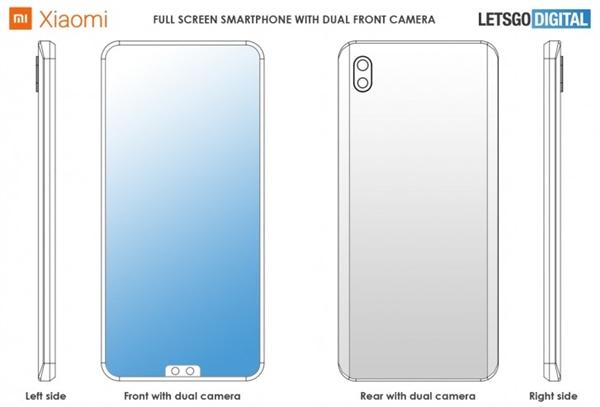 小米提交前置双摄全面屏手机专利:画风颠覆想象-智能家电