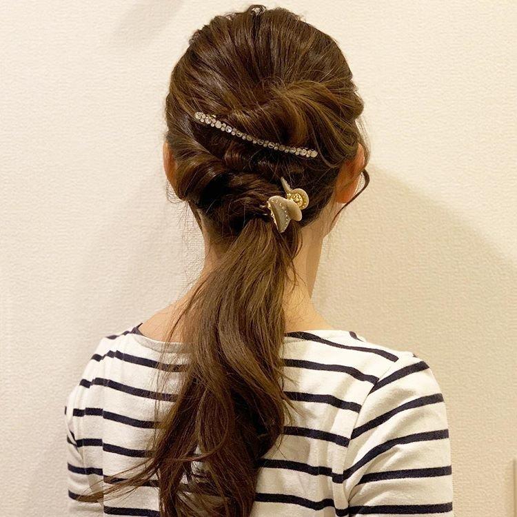 简单实用的编发发型,头发这样盘起来,高贵优雅图片
