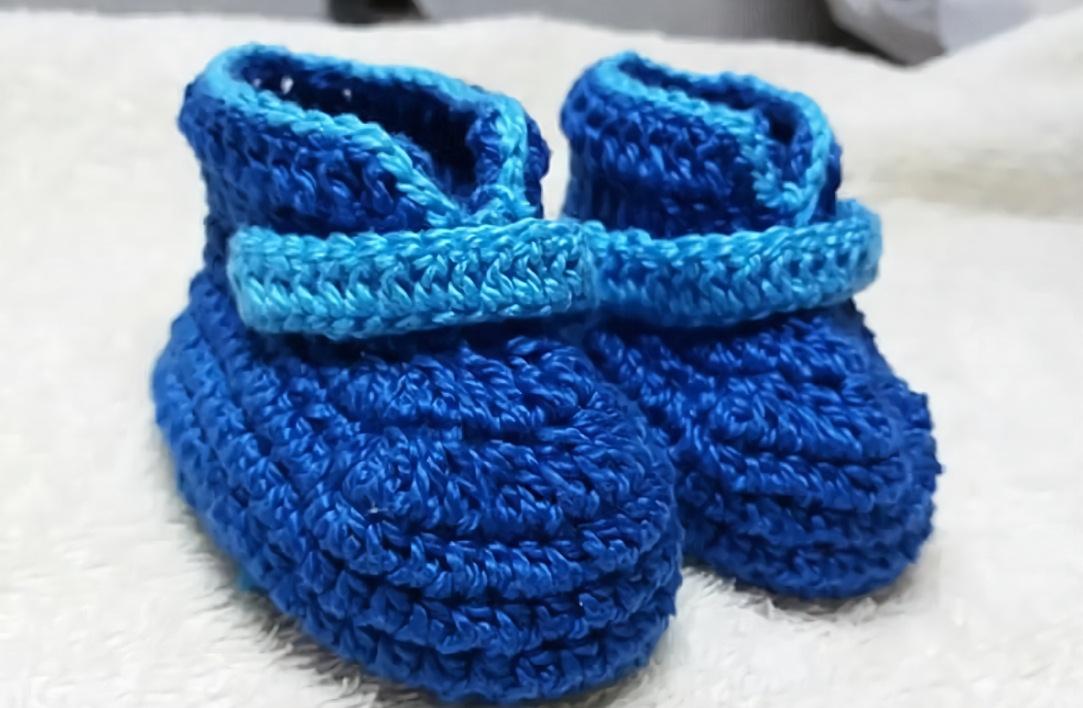 棒针编织宝宝靴子图解