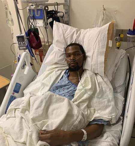 杜蘭特Ins曬術后照:我的跟腱確實斷了,手術成功