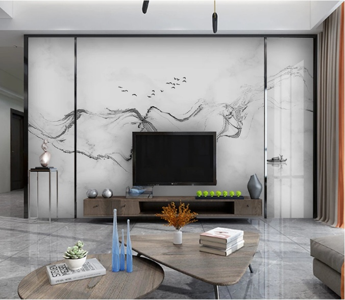 醉美新中式系列背景墙,轻装饰的奢华大气