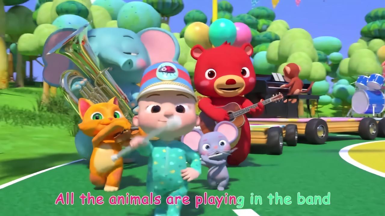 儿童早教动画,益智英语儿歌,小动物的森林舞会