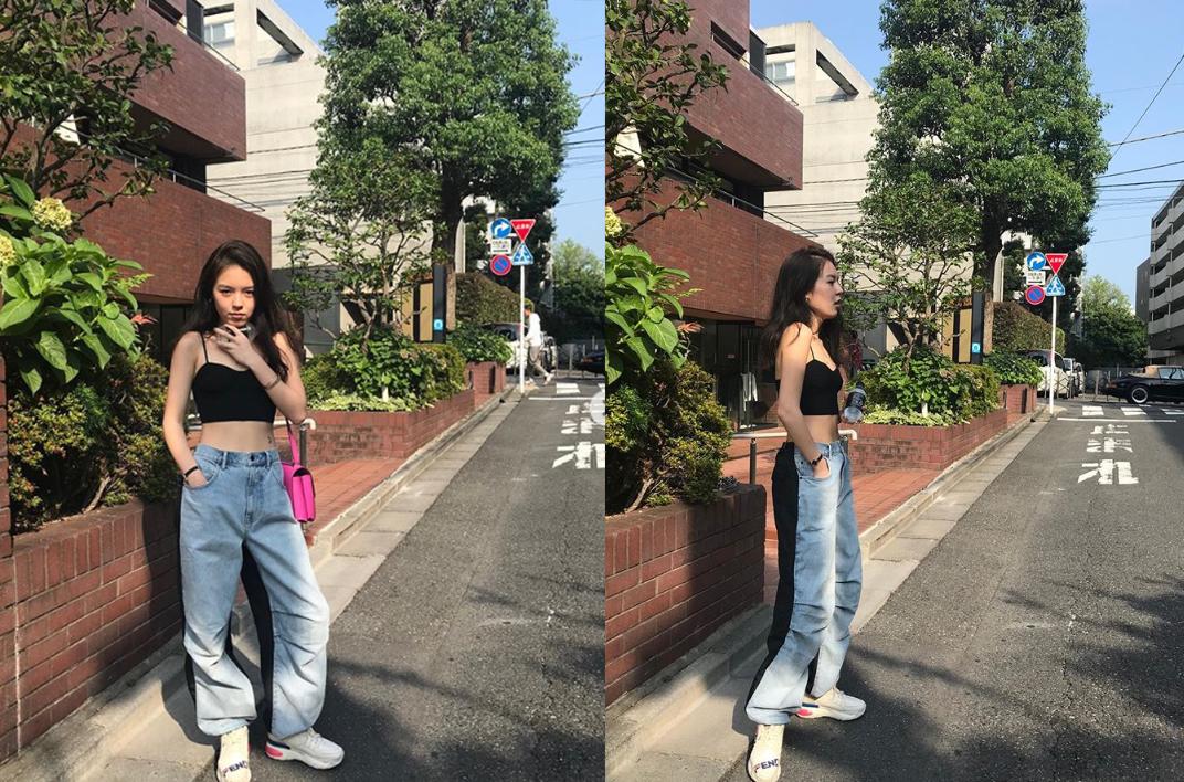 李咏女儿游日本晒街拍,凹造型秀小蛮腰,打扮越来越性感