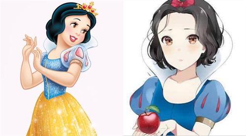"""日系画风的迪士尼公主,爱洛成为""""q版萌妹"""",仙蒂化身"""""""