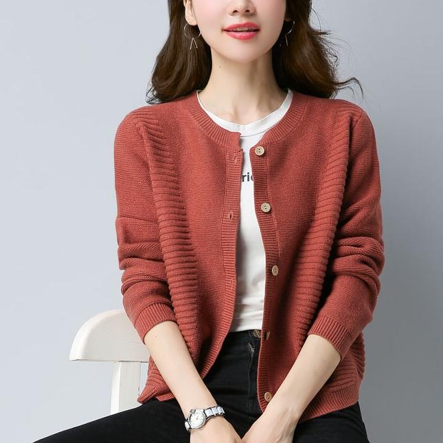 针织开衫女短款毛衣秋外搭小外套舒适的休闲设计显腿长显瘦的版型
