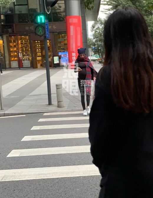张馨予遛狗被偶遇孕肚大到震惊网友