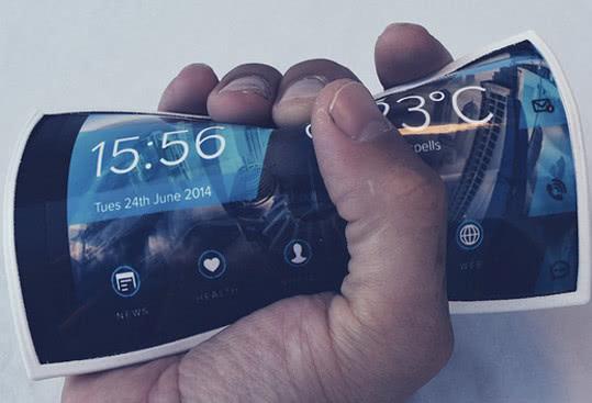 未来手机的最新科技发展 一款在手臂上手机 终结所有的元素