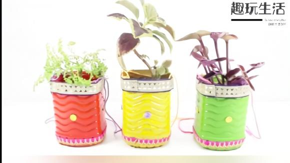 塑料瓶别丢,手工diy制作成墙挂花盆,太实用了