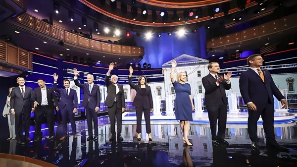 民主黨初選辯論:「女版奧巴馬」搶眼 拜登遭圍攻