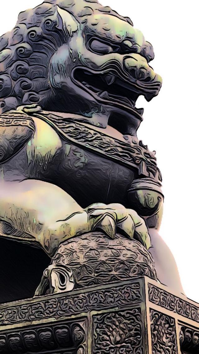 """中国的石头""""狮子王"""""""