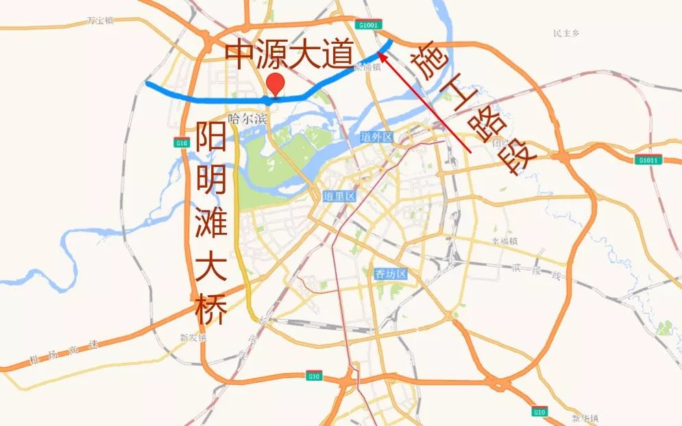 哈尔滨将修建2.5公里长东三环江北段,连接滨北公铁两用桥和中源大道