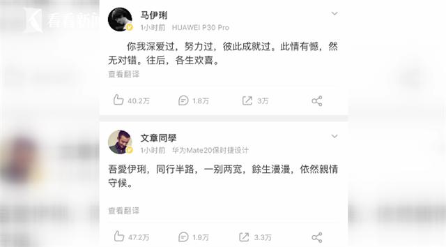 """""""往后,各生欢喜"""" 马伊琍文章宣布离婚_0"""