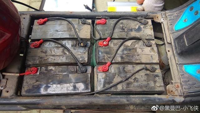 车内的铅酸电池串联,一共六个单体,这就是72V的电池-性价比可以