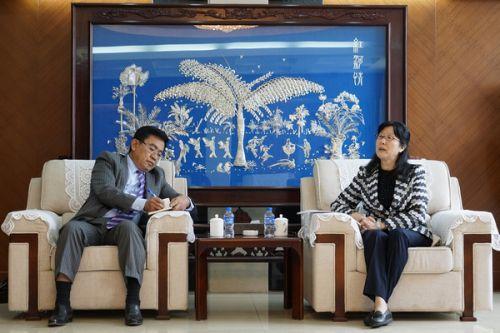 石林会见柬埔寨驻昆总领事叶伟罗一行图片