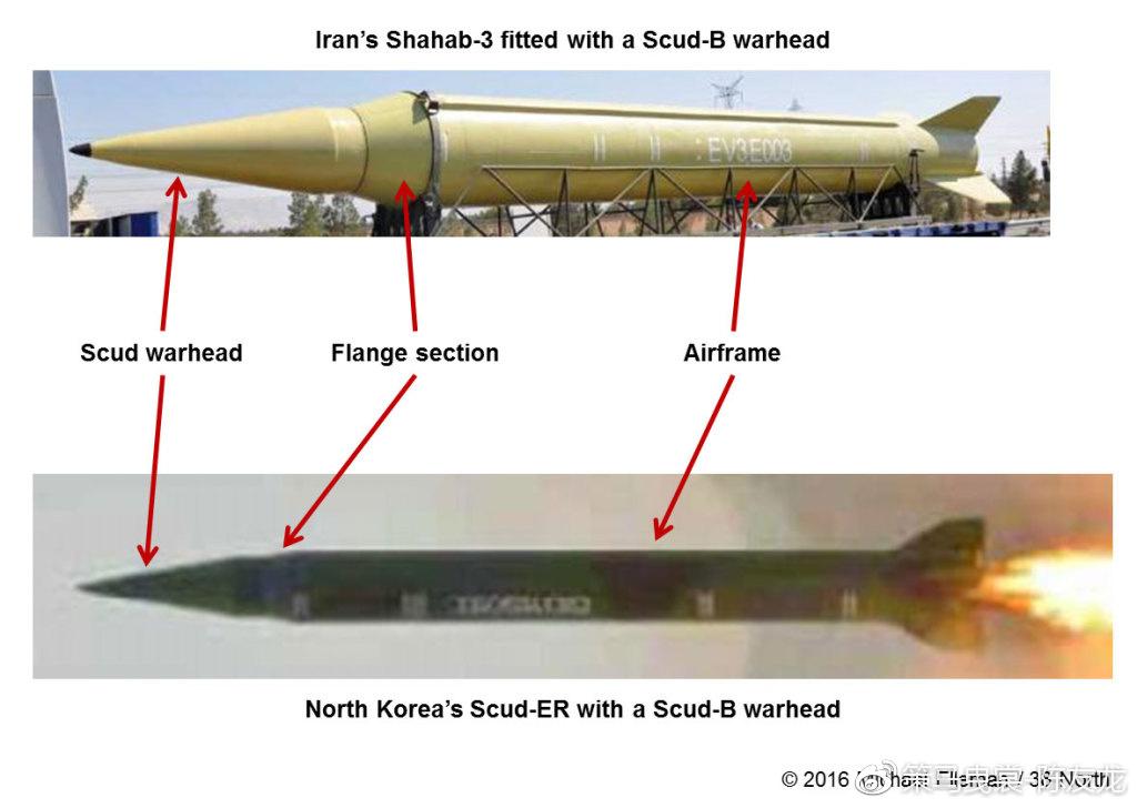 """在伊朗2004年的阅兵式上也展示过安装0.88米直径的飞毛腿弹头的改进型""""流星-3""""导弹,"""