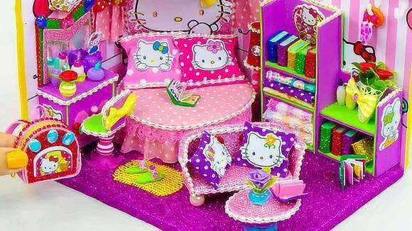 diy,手工制作凯蒂猫主题卧室,这得是多少人梦想中的房间?