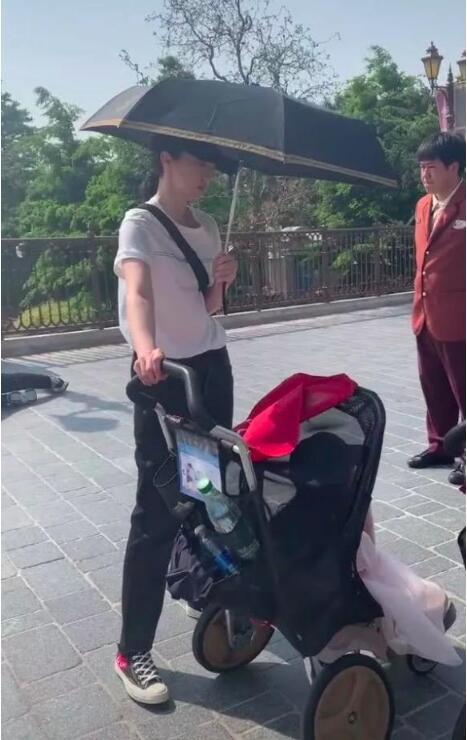 董璇独自带女儿游乐园青青草,衣着朴素一个细节被说