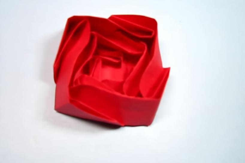 手工折纸,玫瑰花的折法,几个盒子组合成漂亮的玫瑰花,简单易学
