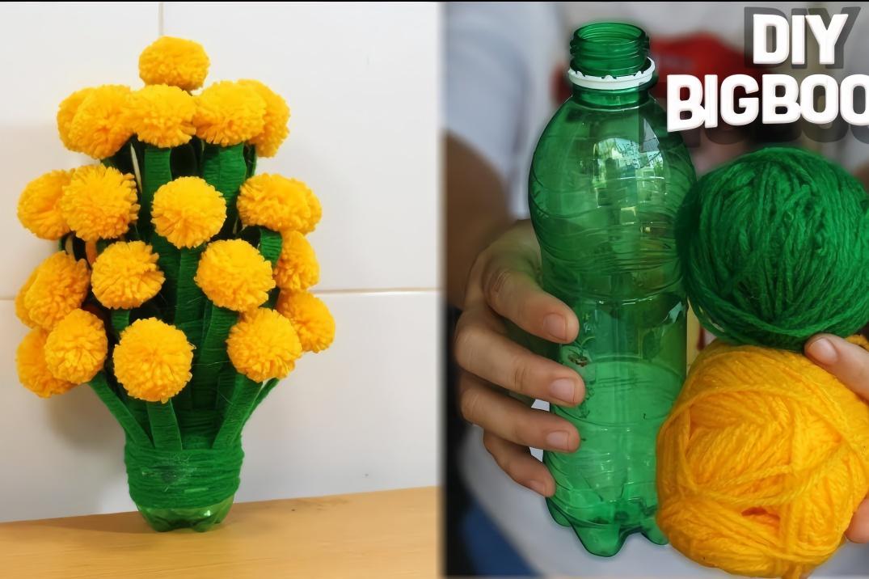 塑料瓶別再扔了,教你用廢舊塑料瓶diy漂亮的手工花瓶圖片