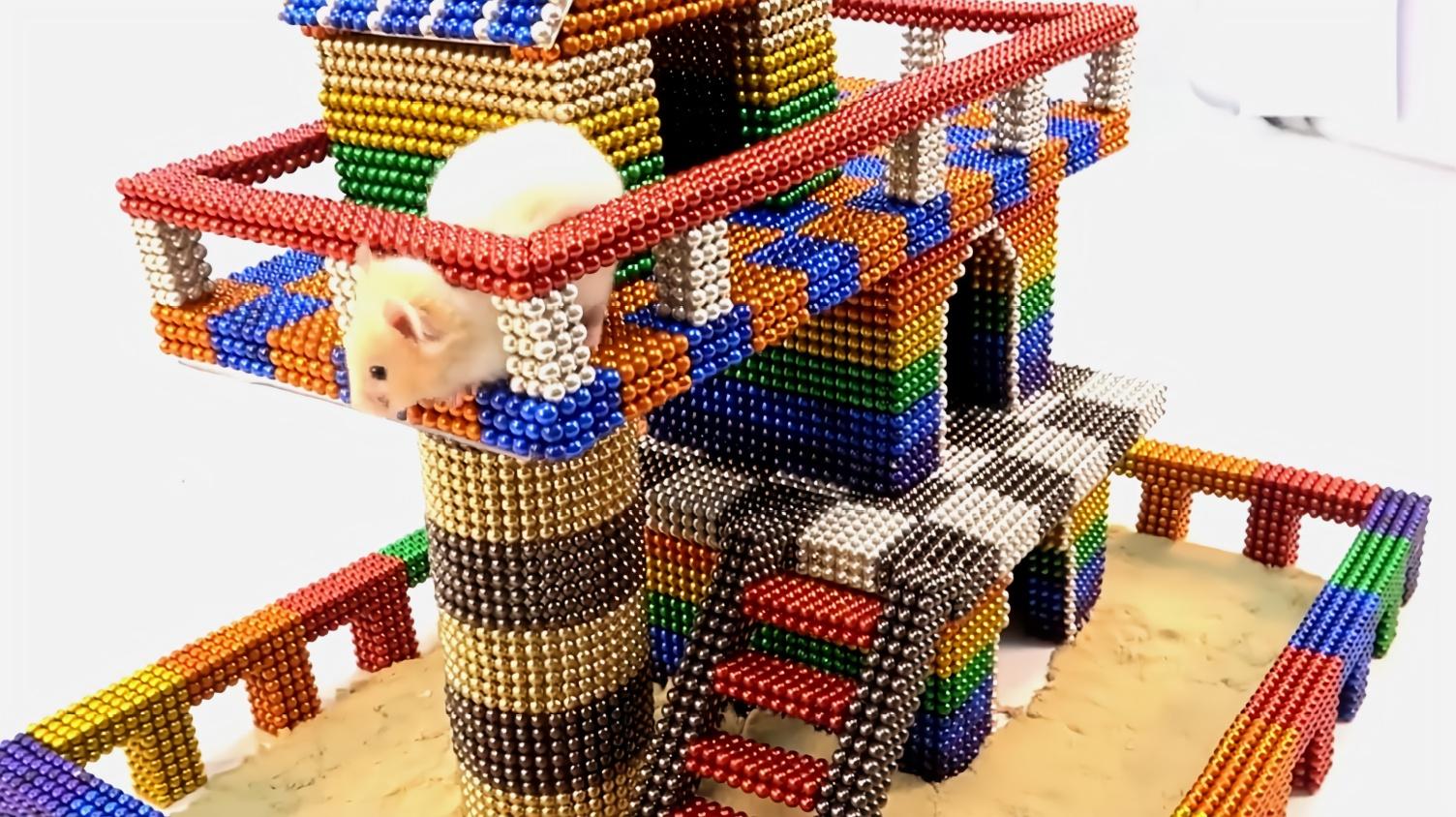 手工diy创意:用巴克球给仓鼠设计一间小窝